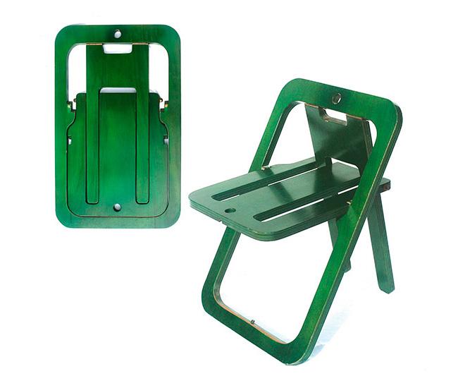 Sheetseat una sola l mina para sentarse di conexiones for Sillas plegables diseno