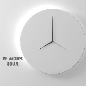 Length-D: reloj de pared, dos lugares, dos tiempos