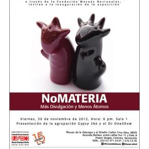 NoMATERIA: diseño industrial en el MEDI el 30 de noviembre