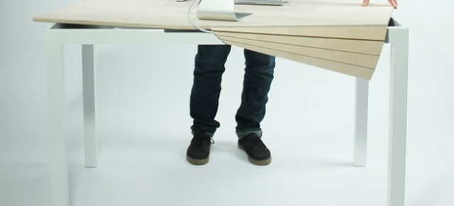 Tambour Table: compartimiento inusual en la mesa de Michael Bambino