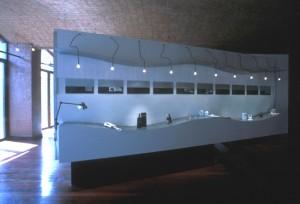 Espacio central exposición Detrás de las Cosas: El Diseño Industrial en Venezuela. Centro de Arte la Estancia 1995.