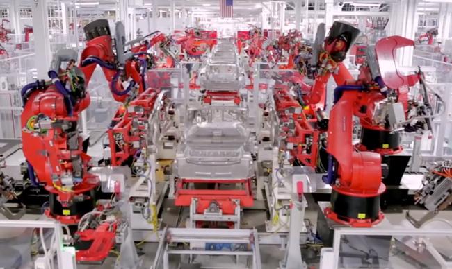 Tesla Motors 160 Robots Ensamblando Carros El 233 Ctricos