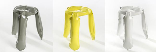 Sgabello Plopp Di Oskar Zieta : Plopp stool mobiliario de metal inflado del diseñador