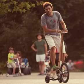 Halfbike: un vehículo de transporte urbano, una bicicleta sin asiento