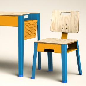 Tiza 2.0: mobiliario escolar del estudio Somos Polenta en Argentina