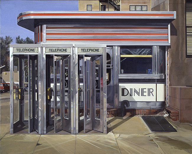 Richard Estes - Diner - 1971 - Hirshhorn Museum and Sculpture Garden, Smithsonian American Art Museum.