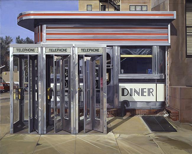 Richard Estes - Diner - 1971 - Hirshhorn Museum and Sculpture Garden, Smithsonian American Art Museum.