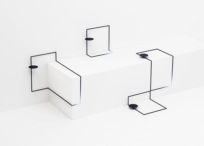 Border Table, 2015. Colección de piezas de mobiliario. Nendo. [imágenes: Hiroshi Iwasaki y Masaya Yoshimura]