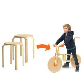 Draisienne: 'hackear' un taburete de Ikea para crear una bicicleta