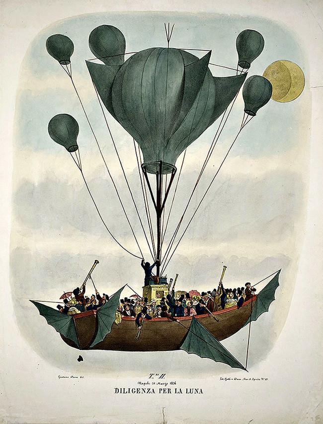 Leopoldo Galluzzo Altre scoverte fatte nella luna dal Sigr. Herschel [Other lunar discoveries from Signor Herschel] Naples, 1836.