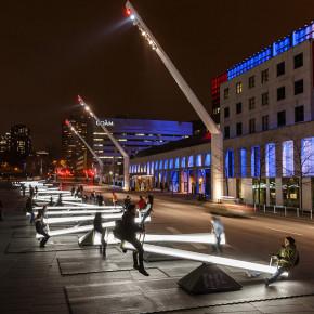 Impulse: 30 subibajas interactivos en Montreal, con luz y sonido