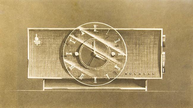 Bocetos de una Radio para la empresa Emerson, 1953.
