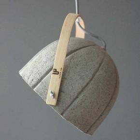 Dome Lamp: papel - concreto reciclado de la diseñadora húngara Rita Koralevics