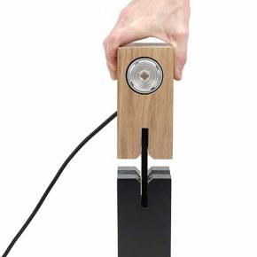 Élastico: lámpara inspirada en juguete de madera japonés, Kumi-ki