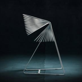 Filoferru: alambres de acero en la silla del italiano Robby Cantarutti