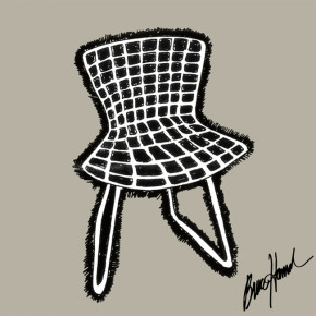 Bertoia Chair Knoll, 1955:  Harry Bertoia