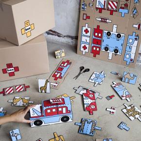 Inside the Box: cajas de cartón en juguetes para niños refugiados